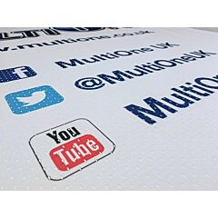 Perforated Polyester Mesh Banner