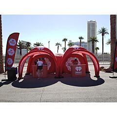 iHeart 10ft x 10ft Spider Tent X1 - With Connector Tunnel