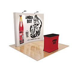 10ft Curved Pop Up Fabric Display